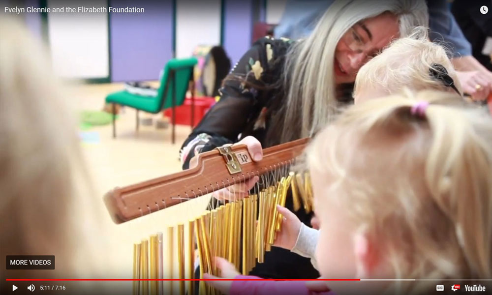 Dame Evelyn Glennie shares a video of her visit to see us