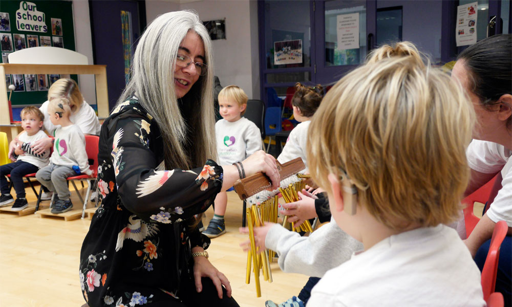 Dame Evelyn Glennie launches Let's Listen and Talk