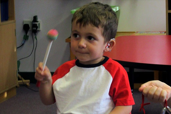 Oscar – a preschool child with hearing loss at The Elizabeth Foundation