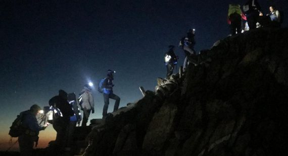 Yorkshire Three Peaks at Night