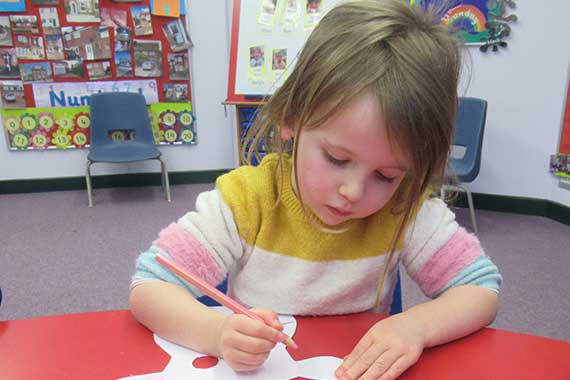 Olivia – pupil at The Elizabeth Foundation for preschool deaf children
