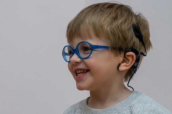 Arlo – a pupil at The Elizabeth Foundation for preschool deaf children
