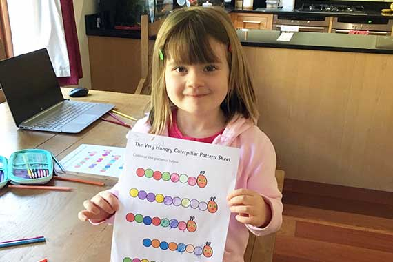 Jessica – a pupil at The Elizabeth Foundation for preschool deaf children